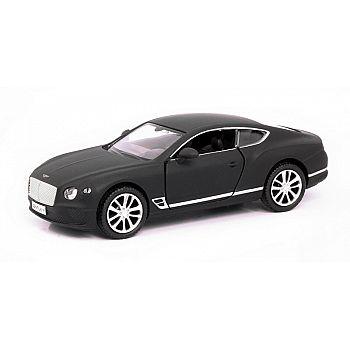 Машинка металлическая Uni-Fortune RMZ City 1:32 The Bentley Continental GT 2018 (цвет черный матовый)