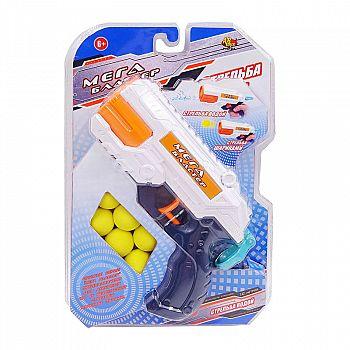 Оружие пластмассовое ABtoys Бластер 2 в 1 стреляет водой или мягкими шариками 6 шт