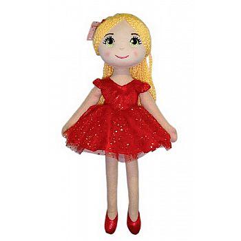 Кукла ABtoys Мягкое сердце, балерина, в красной пачке, мягконабивная, 40 см