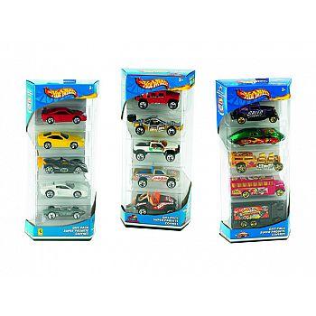 Набор машинок Mattel Hot wheels Подарочный 5 машинок