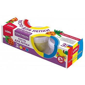 Пластишка Тесто для лепки Набор №18, 3цв. по 80 гр.LORI