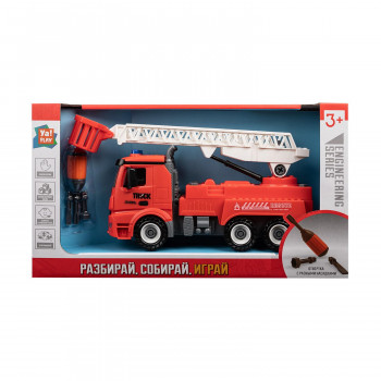 Машинка-конструктор ЯиГрушка Ya!PLAY Пожарная машина с подъемником