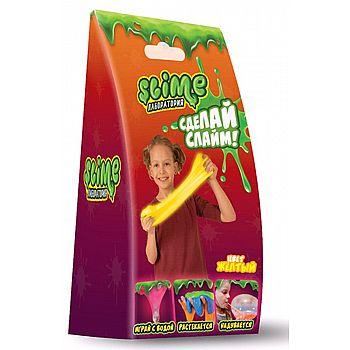 Набор для эксперементов Slime Лаборатория для девочек, малый, желтый, 100 гр.