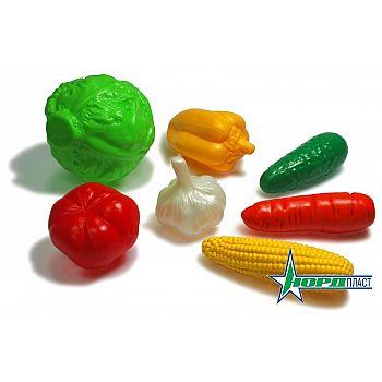 Набор Овощи (7 предметов в сетке) 19х11х14 см.