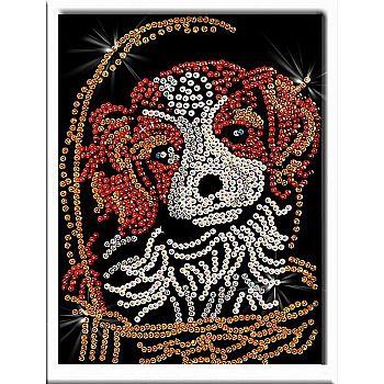 Мозаика из пайеток Милый щенок