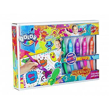 Набор фломастер-кисточка, краски акриловые, в наборе 5 цветов, блистер-упаковка
