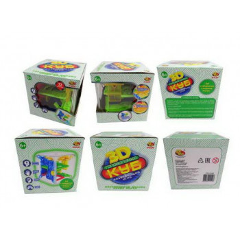Головоломка Куб интеллектуальный 3D, 72 барьера, в коробке