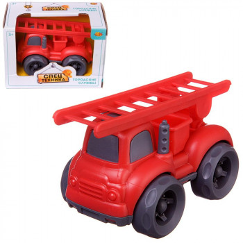 Машинка ABtoys Спецтехника Пожарная машина с лестницей, 10х7х8см