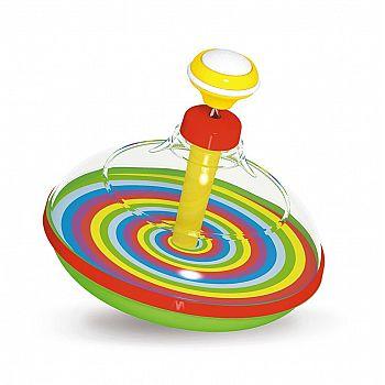 Развивающая игрушка STELLAR Юла прозрачная с музыкой d14см