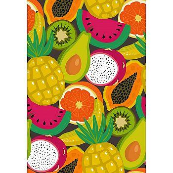 Набор для творчества Рыжий кот Холст с красками по номерам Сочные летние фрукты (20цветов) 30х40 см