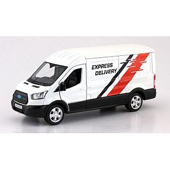 Машинка металлическая Uni-Fortune RMZ City 1:43 Ford Transit Van 2018 (цвет белый)