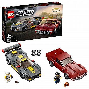 Конструктор LEGO Speed ChampionsChevrolet Corvette C8.R Race Car and 1968 Chevrolet Corvette