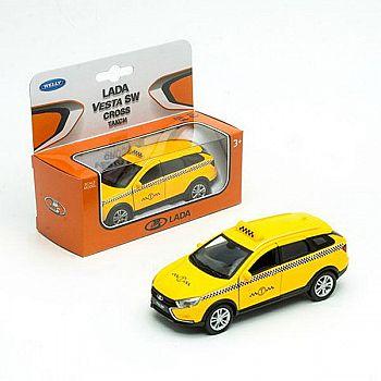 Машинка Welly LADA VESTA SW CROSS Такси металлическая 1:34-39