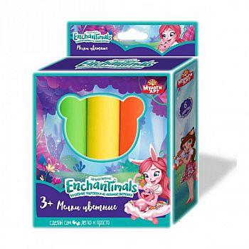 """Набор для творчества, мелки цветные Multiart """"Enchantimals"""", 4 цвета."""