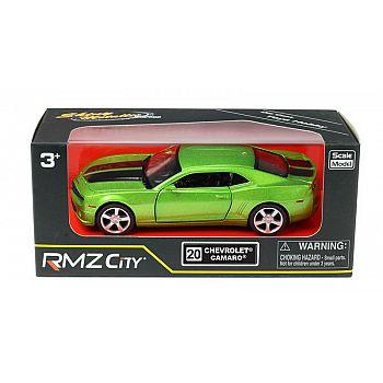 Машинка металлическая Uni-Fortune RMZ City 1:32 Chevrolet Camaro, инерционная, цвет зеленый металлик