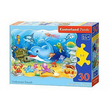 Пазл Castorland MIDI 30 деталей Подводные друзья