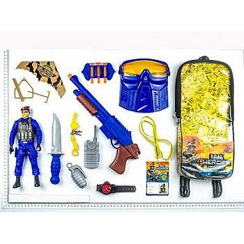 Игровой набор JUNFA военный в рюкзачке, 17 предметов