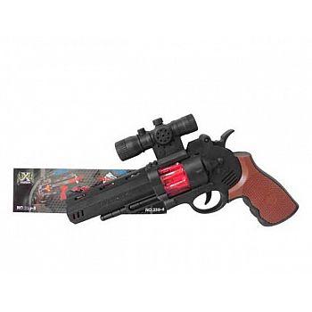 Пистолет со световыми эффектами, 3 бат. типа AA (не входят), 27 x 20 x 5 см.