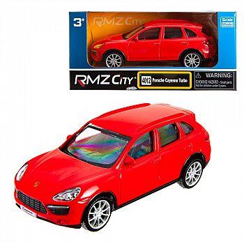 Машинка металлическая Uni-Fortune RMZ City 1:43 Porsche Cayenne Turbo , без механизмов, цвет красный, 12,5 x 5,6 x 5,9 см