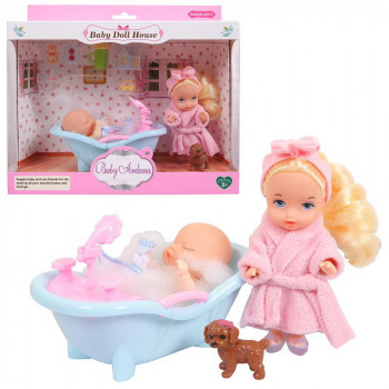 Игровой набор Baby Ardana Дома у сестрёнок (в ванной комнате)