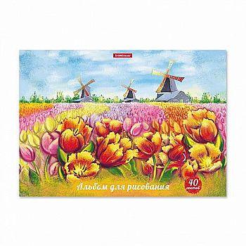 Альбом для рисования ErichKrause Цветущая Голландия А4 40 листов на клею