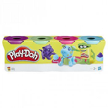 Набор для творчества Hasbro Play-Doh Пластилин для лепки 4 баночки