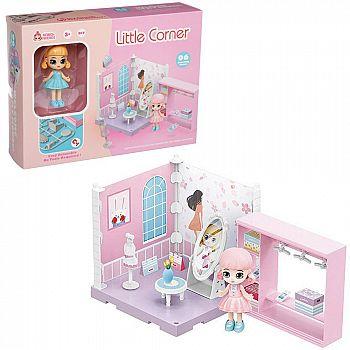 Игровой набор ABtoys Модульный домик (собери сам), 1 секция. Мини-кукла в гардеробной комнате, в наборе с аксессуарами