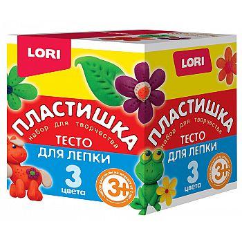 Пластишка Тесто для лепки Набор №16, 3цв. по 70 гр.