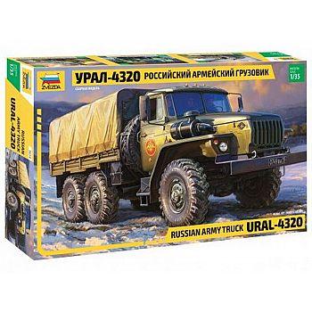 Сборная модель ZVEZDA Российский армейский грузовик Урал-4320