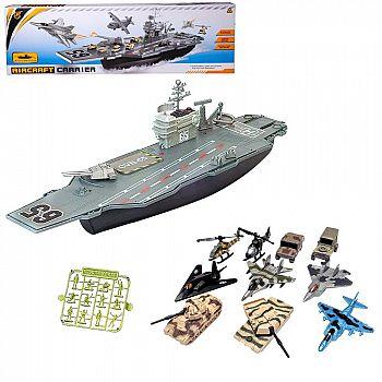 Набор игровой Junfa Авианосец (собери сам) (корабль, самолеты, военная техника, акссесуары)