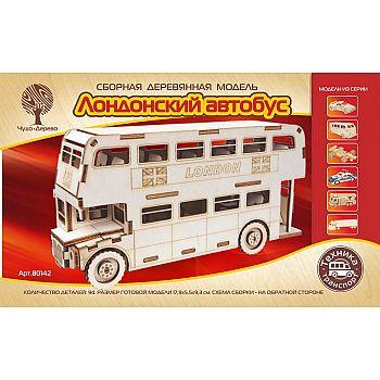 Сборная деревянная модель Чудо-Дерево Транспорт Лондонский автобус