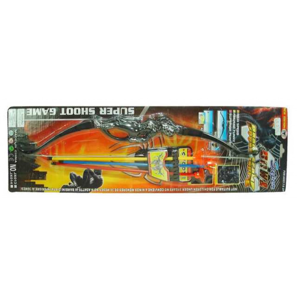 Игровой набор Junfa Лук со стрелами, блистер 72х21х3,5 см