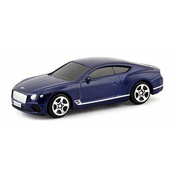 Машинка металлическая Uni-Fortune RMZ City 1:64 The Bentley Continental GT 2018 (цвет синий)