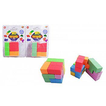 Куб головоломка 3D, 7 деталей