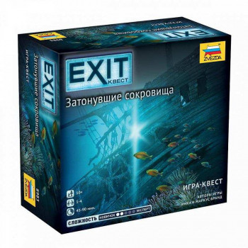 Игра настольная ZVEZDA Exit Квест. Затонувшие сокровища
