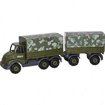 Автомобиль военный бортовой тентовый с прицепом Муромец