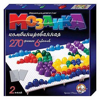 Мозаика d10+d15+d20/ 6 цветов/ 270 шт/ два поля 280х280х40.