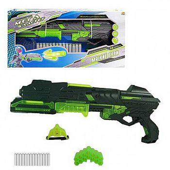 Мегабластер, в наборе с 14 мягкими снарядами и аксессуарами, на батарейках
