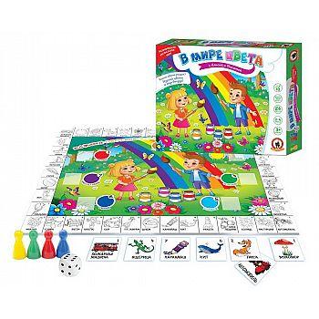 Настольная игра Русский Стиль В мире цвета с Алисой и Никитой 84 карточки