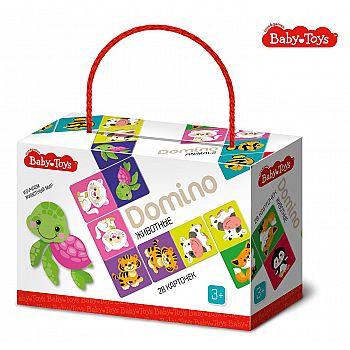 Домино Десятое королевство серия Baby Toys Животные 28 карточек