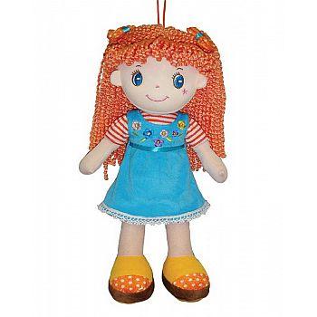 Кукла ABtoys Мягкое сердце, мягконабивная, рыжая в глубом платье, 20 см