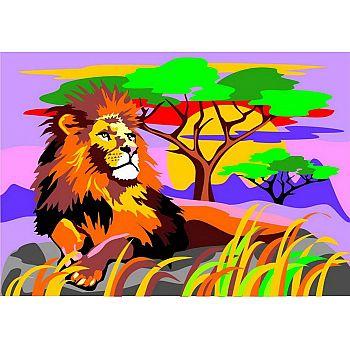 Набор для творчества LORI Картина по номерам для малышей Царь зверей