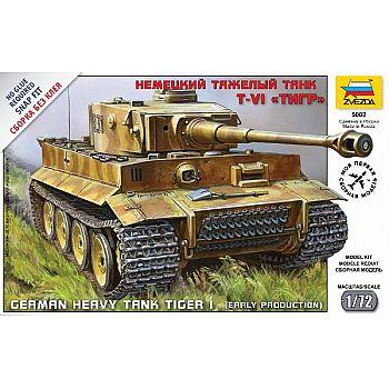 Сборная модель ZVEZDA Танк Тигр 1:72 (сборка)