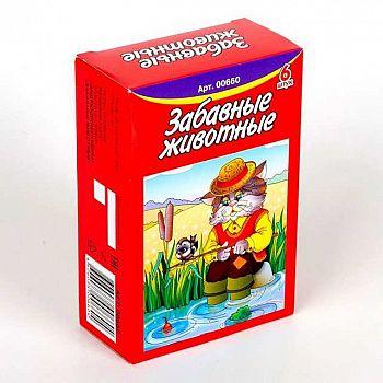 Кубики Забавные животные 6 шт