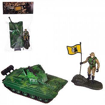 Игровой набор Abtoys Боевая сила Танк, фигурка солдата, акссесуары, в пакете