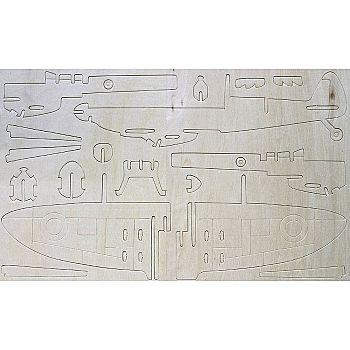 """Сборная деревянная модель Чудо-Дерево Авиация Спитфайр"""""""