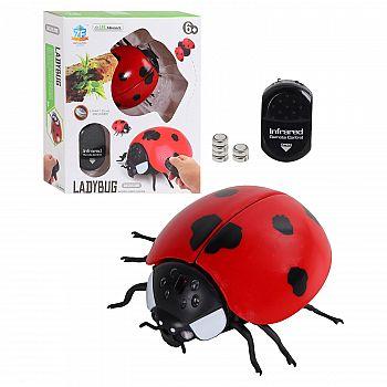 Интерактивные насекомые и пресмыкающиеся. Божья коровка ИК управление, световые эффекты