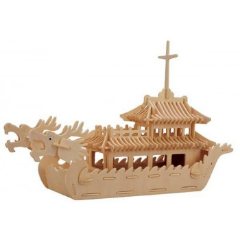 Сборная деревянная модель Чудо-Дерево Корабли Лодка Дракона (8 пластин)